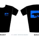 Blue  -  Sarka-Navon Design T-Shirt  -  Front + Back