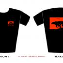 Red  -  Sarka-Navon Design T-Shirt  -  Front + Back