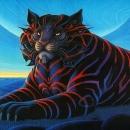 "Sevin:  1997 Acrylic 32""x20"""