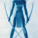 Warrior Woman - charcoal