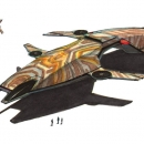 Camouflage Gold Dropship
