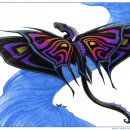 Butterfly Dragon - Color CU