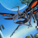 "Mantis:  Acrylic 34""x21"""