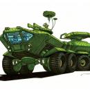Camouflage 8-Wheel Tank